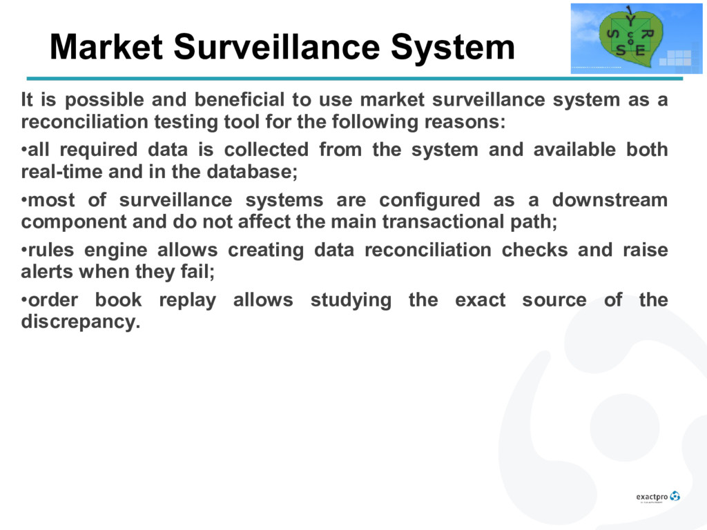 Market Surveillance System It is possible and b...