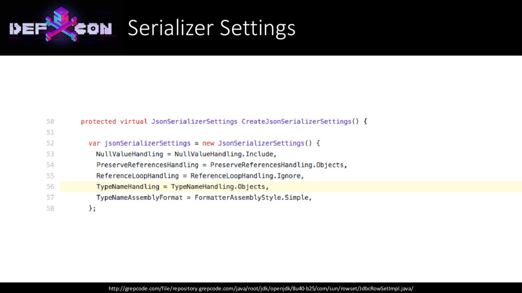 Serializer Settings http://grepcode.com/file/re...