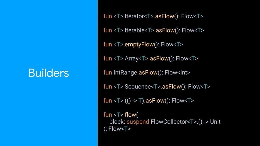 fun <T> Iterator<T>.asFlow(): Flow<T> fun <T> I...