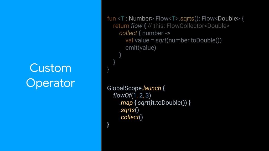 Custom Operator fun <T : Number> Flow<T>.sqrts...