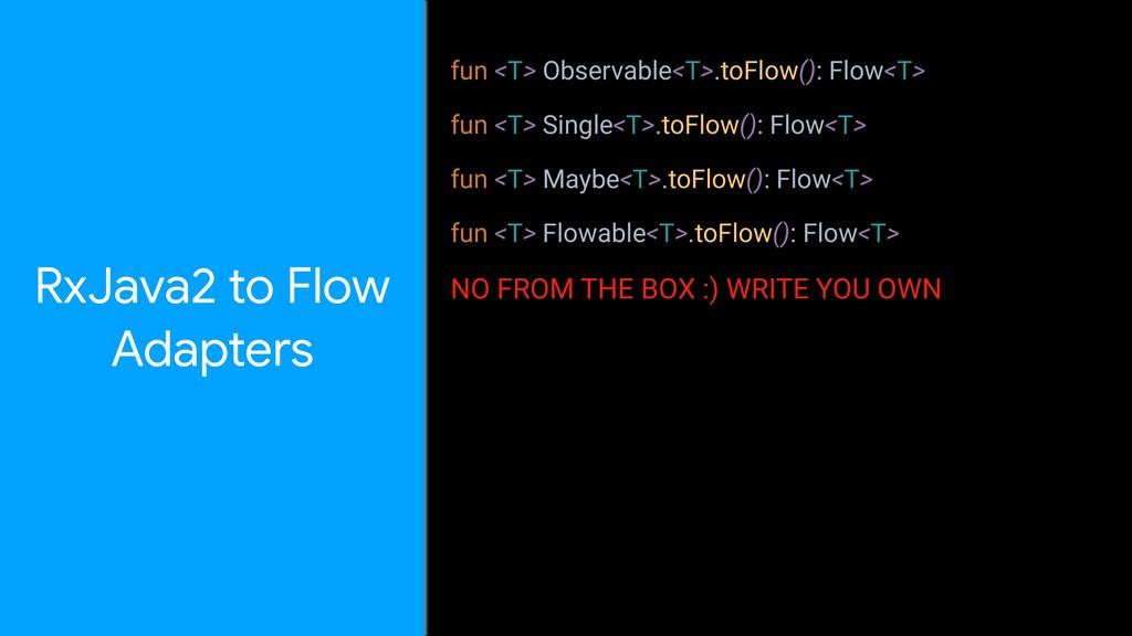 fun <T> Observable<T>.toFlow(): Flow<T> fun <T>...