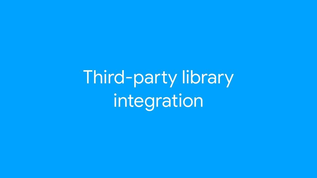Third-paNy library integration
