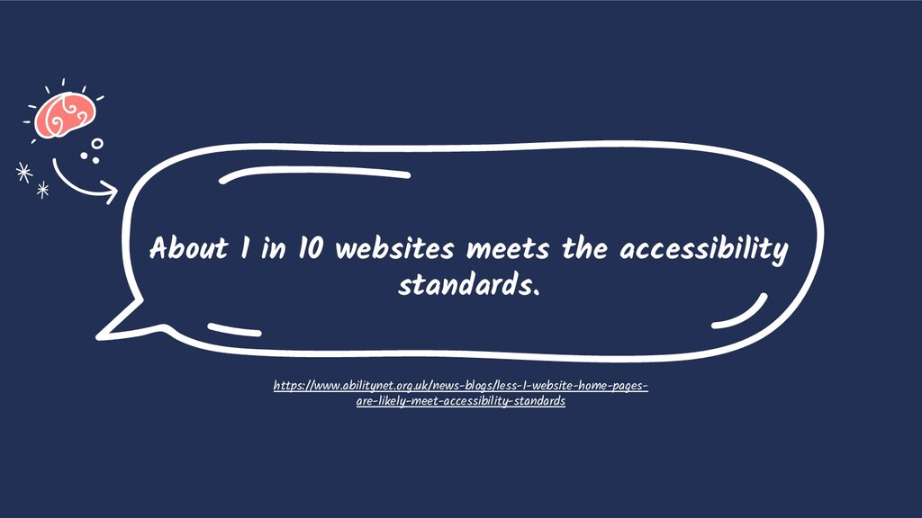 About 1 in 10 websites meets the accessibility ...