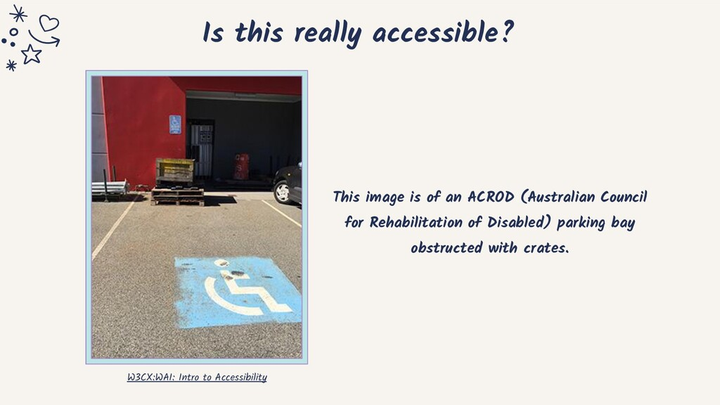 Is this really accessible? This image is of an ...