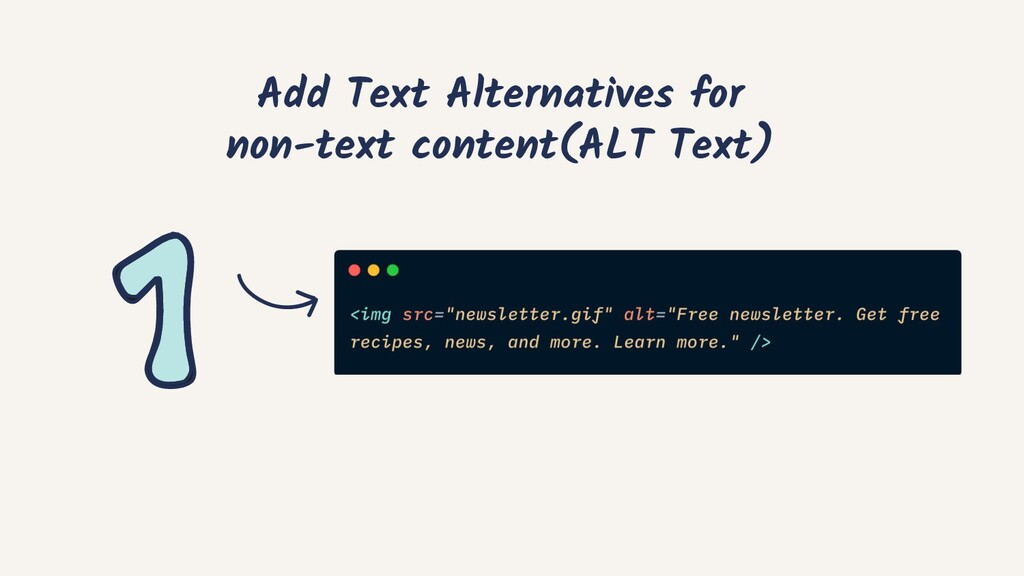 Add Text Alternatives for non-text content(ALT ...