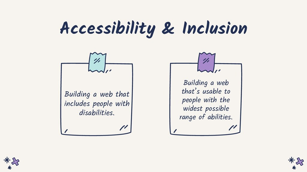 Accessibility & Inclusion Building a web that i...