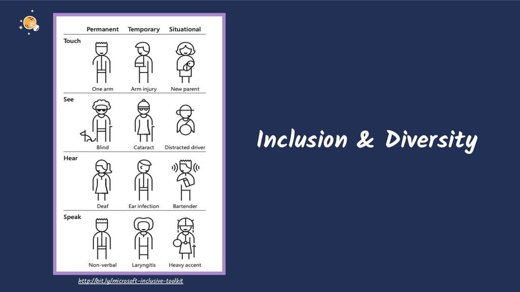 Inclusion & Diversity http://bit.ly/microsoft-i...