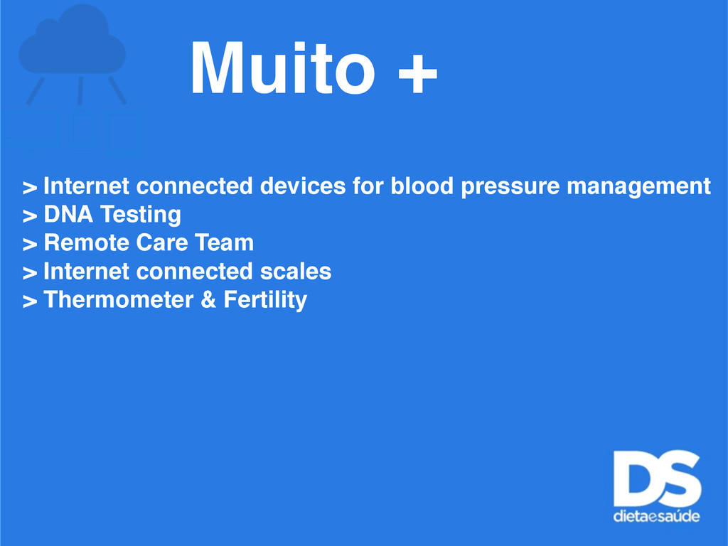 > Internet connected devices for blood pressure...
