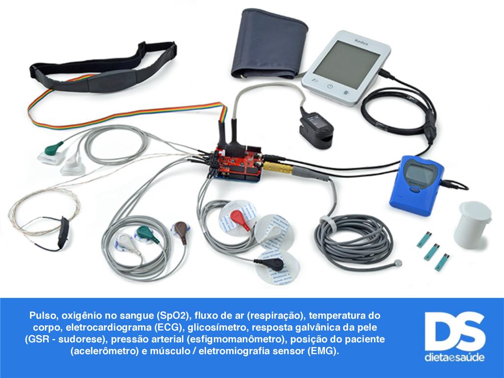 Pulso, oxigênio no sangue (SpO2), fluxo de ar (r...