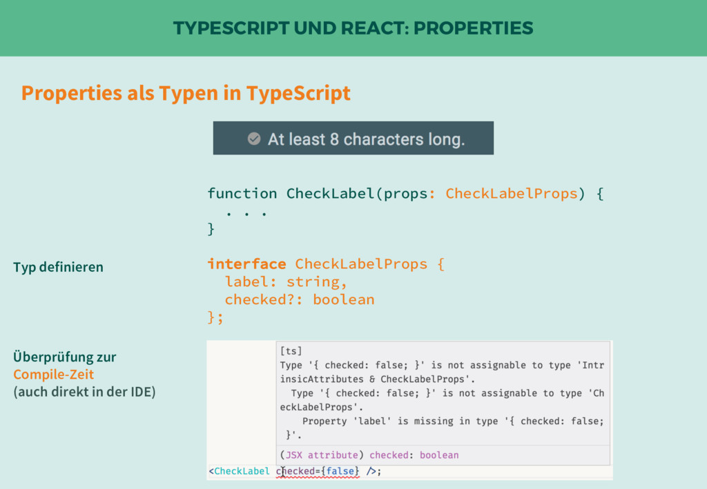TYPESCRIPT UND REACT: PROPERTIES function Check...