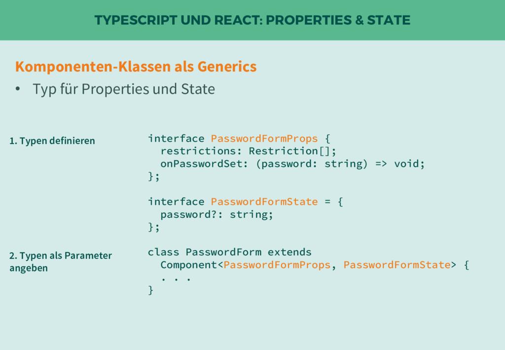 TYPESCRIPT UND REACT: PROPERTIES & STATE interf...
