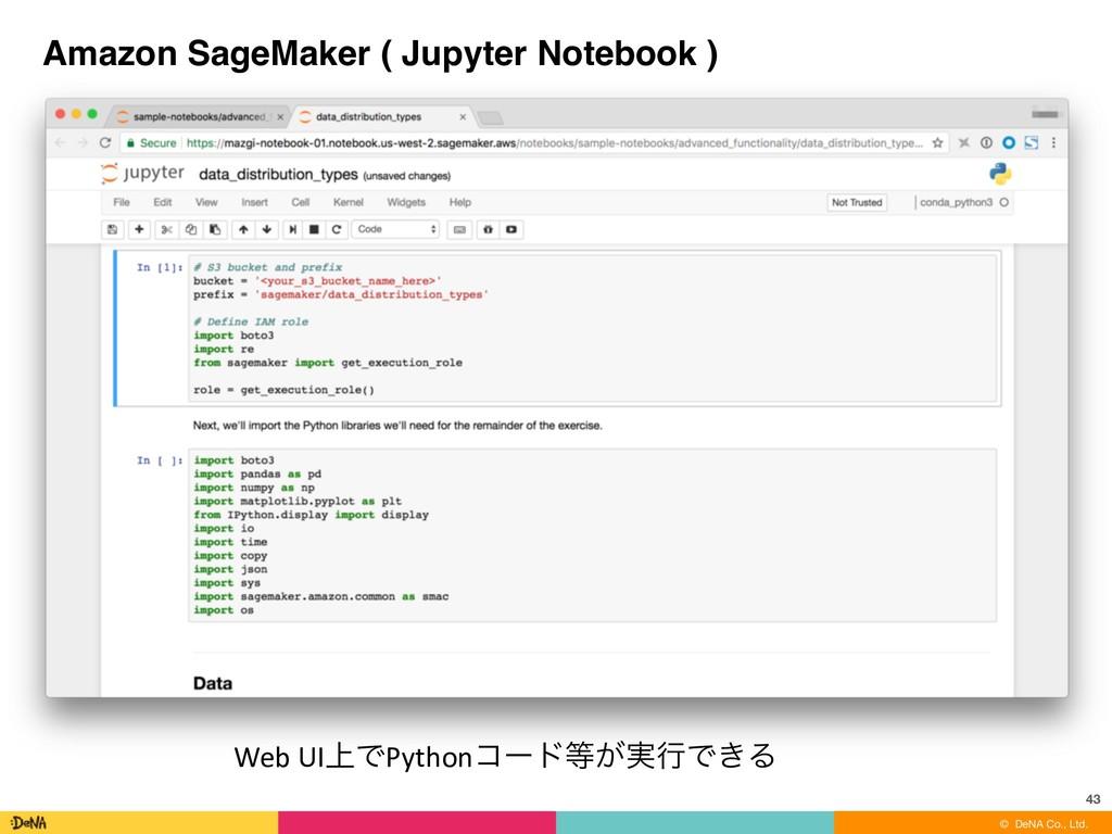 © DeNA Co., Ltd. Amazon SageMaker ( Jupyter Not...