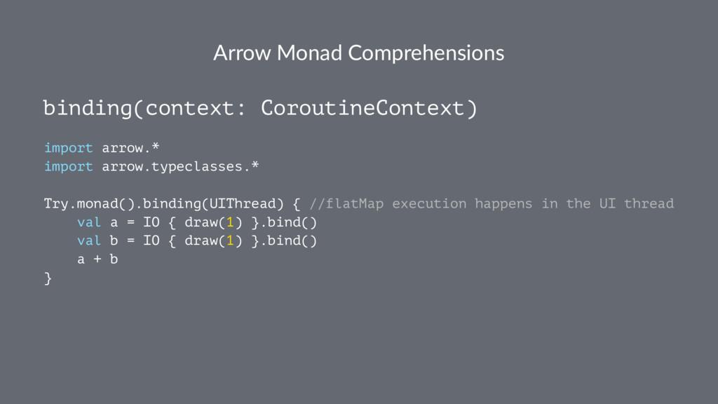 Arrow Monad Comprehensions binding(context: Cor...