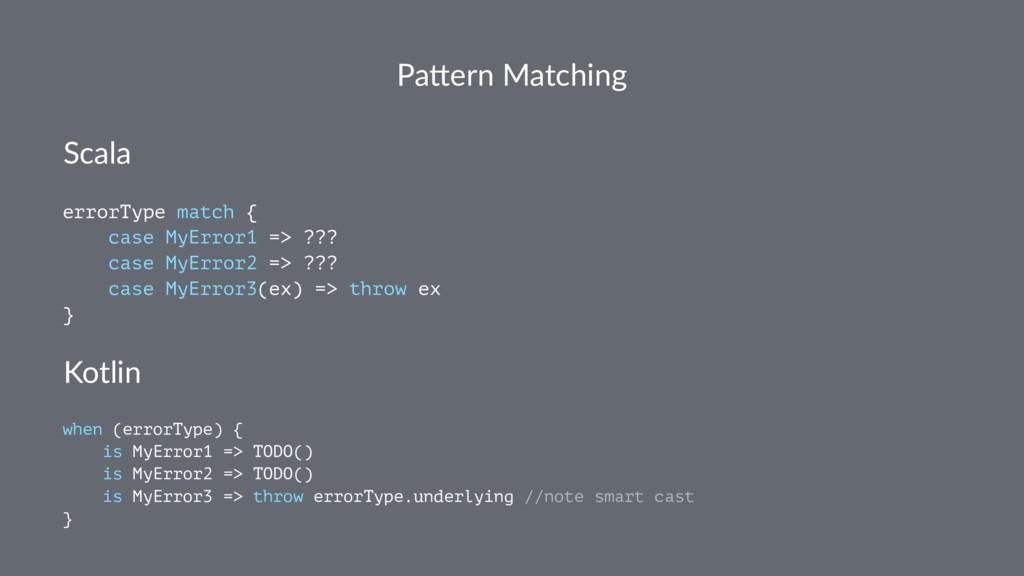 Pa#ern Matching Scala errorType match { case My...