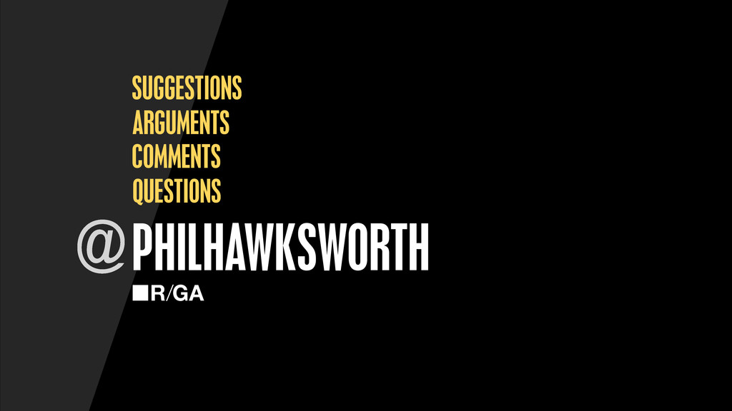 PHILHAWKSWORTH @ QUESTIONS SUGGESTIONS ARGUMENT...