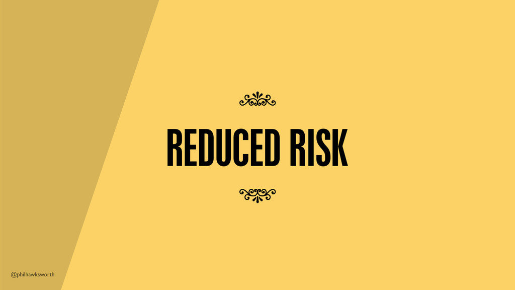 @philhawksworth REDUCED RISK 7 7