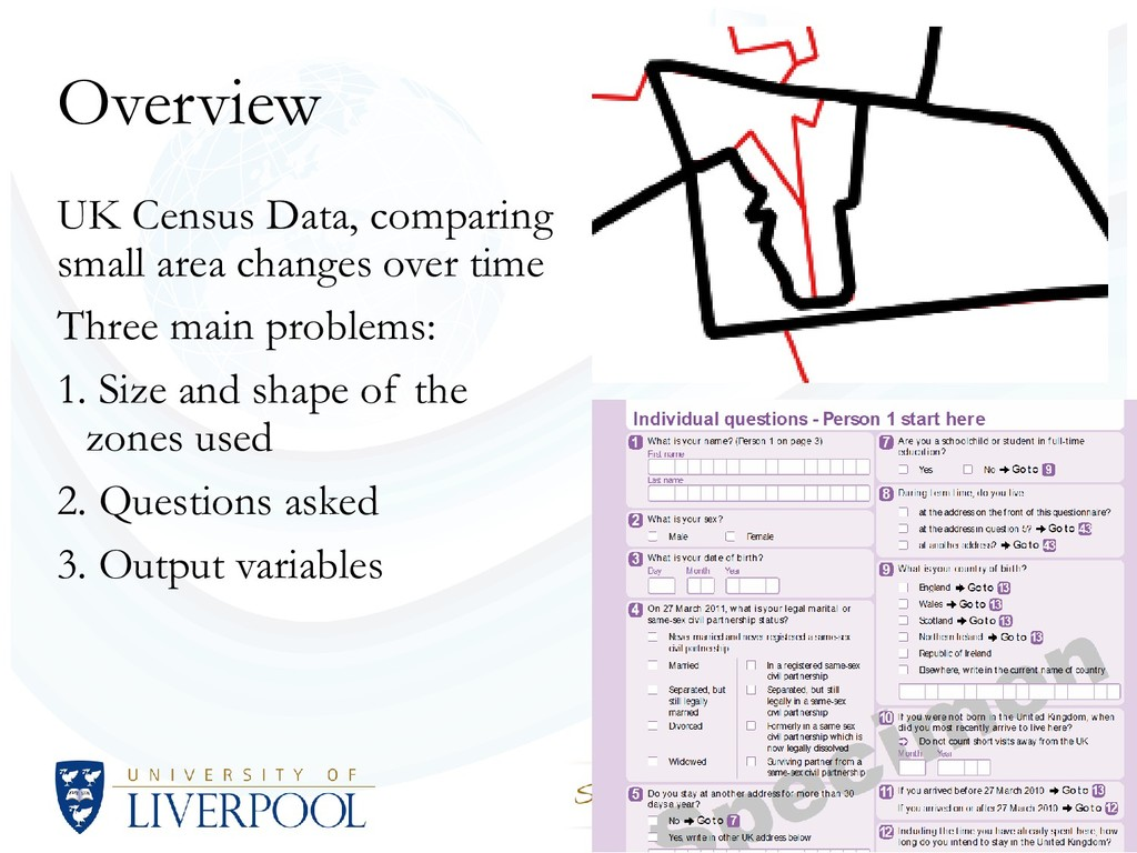Overview UK Census Data, comparing small area c...