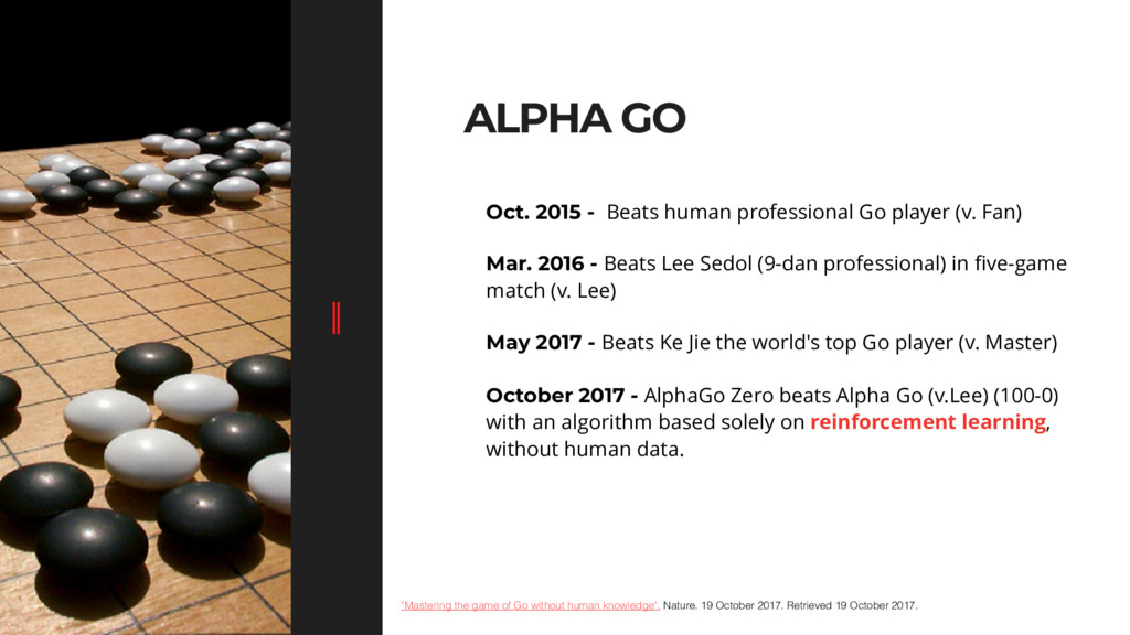"""ALPHA GO """"Mastering the game of Go without huma..."""