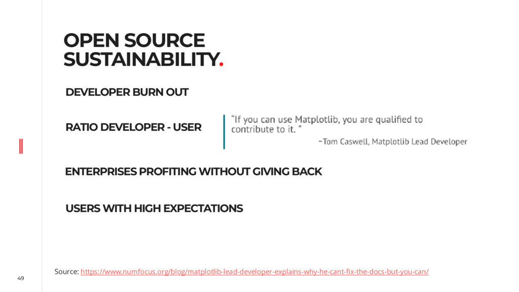 49 OPEN SOURCE SUSTAINABILITY. Source: https://...
