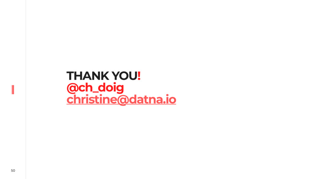 50 THANK YOU! @ch_doig christine@datna.io