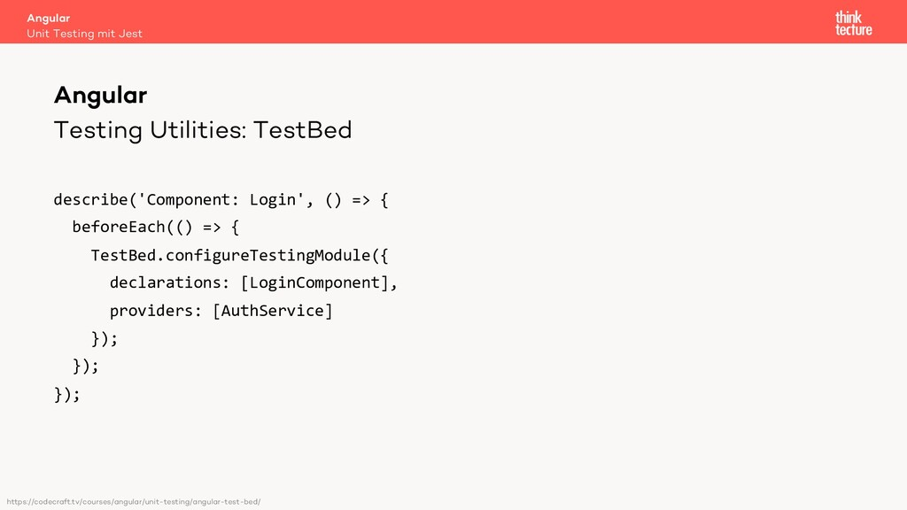 Testing Utilities: TestBed describe('Component:...