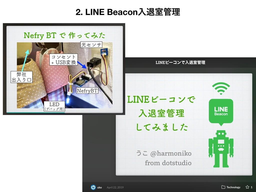 2. LINE Beaconೖୀࣨཧ