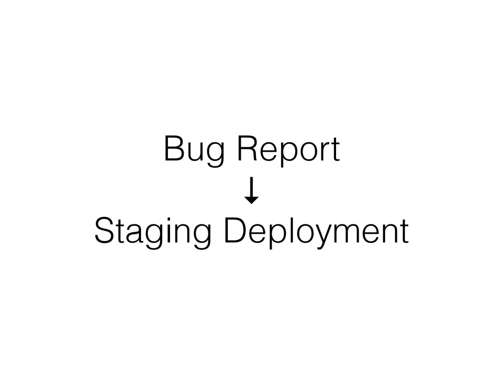 Bug Report ↓ Staging Deployment