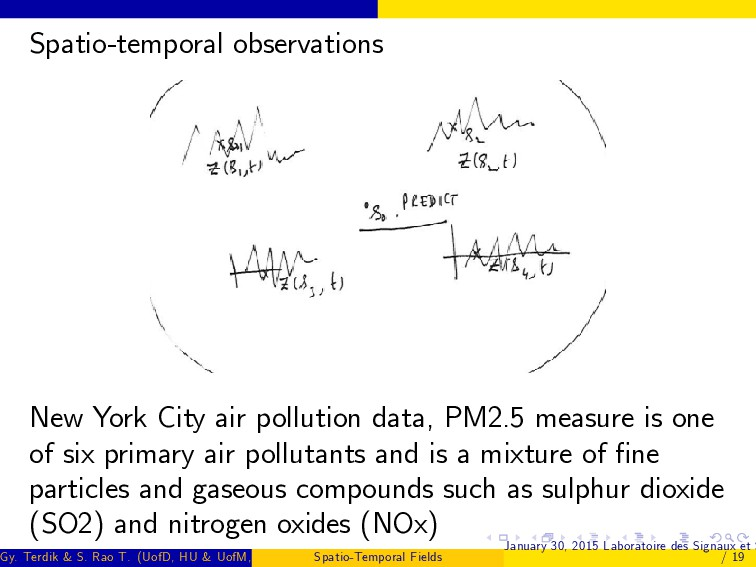 Spatio-temporal observations New York City air ...