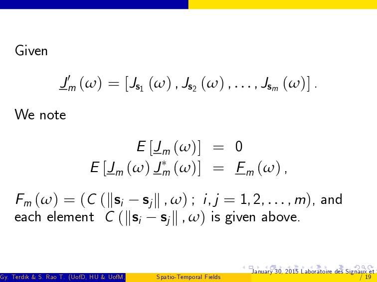 Given J0 m (ω) = [Js1 (ω) , Js2 (ω) , . . . , J...