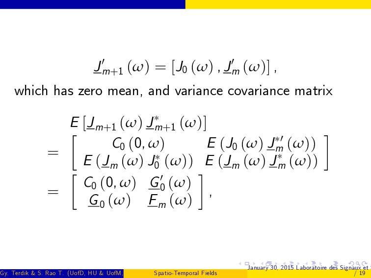 J0 m+1 (ω) = [J0 (ω) , J0 m (ω)] , which has ze...