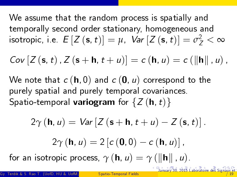 We assume that the random process is spatially ...