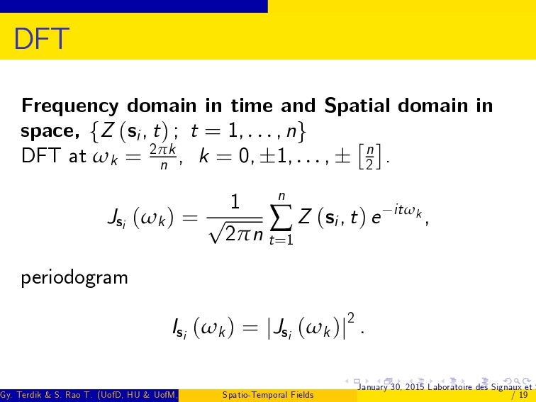 DFT Frequency domain in time and Spatial domain...