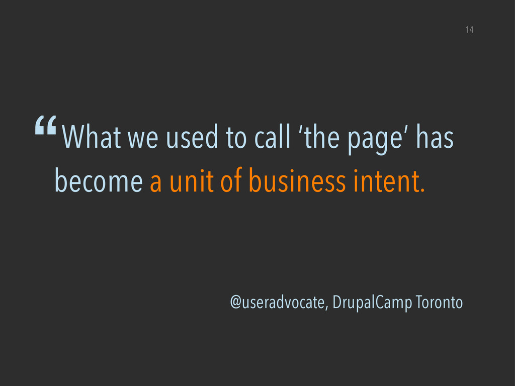 "@useradvocate, DrupalCamp Toronto 14 ""What we u..."