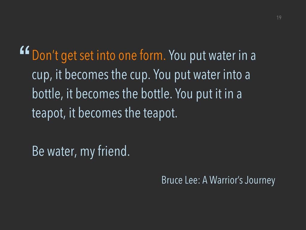 """Bruce Lee: A Warrior's Journey 19 """"Don't get se..."""