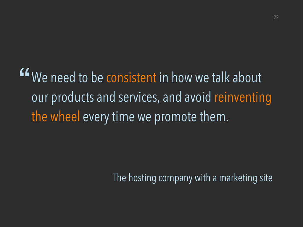 """The hosting company with a marketing site """"We n..."""