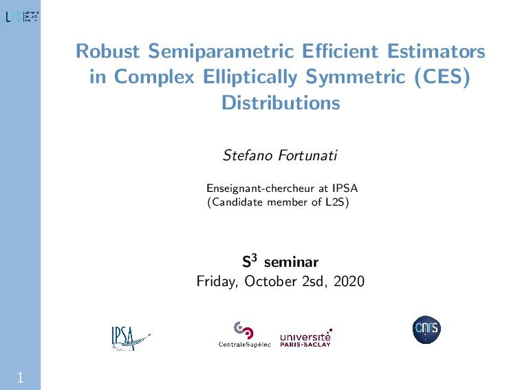 1 Robust Semiparametric Efficient Estimators in C...