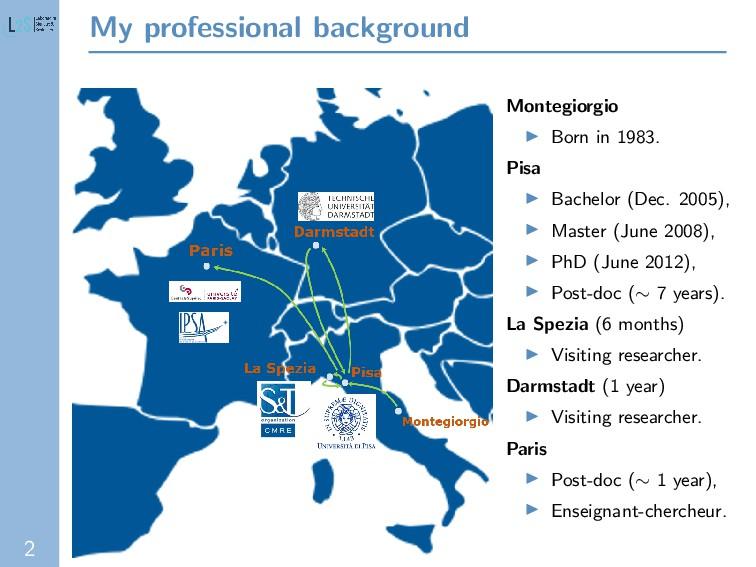 2 My professional background Montegiorgio Born ...