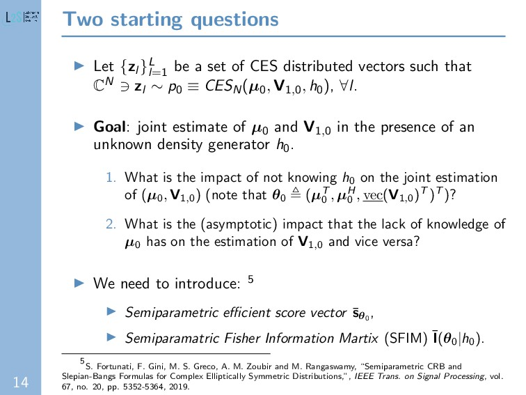 14 Two starting questions Let {zl }L l=1 be a s...