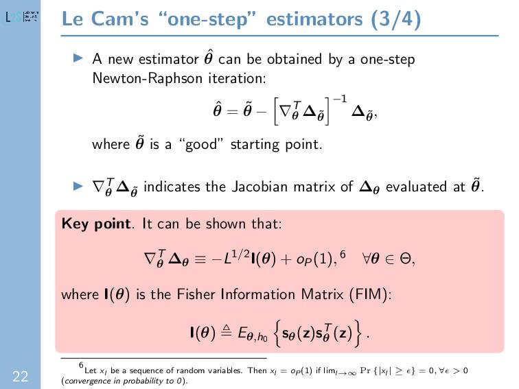 """22 Le Cam's """"one-step"""" estimators (3/4) A new e..."""