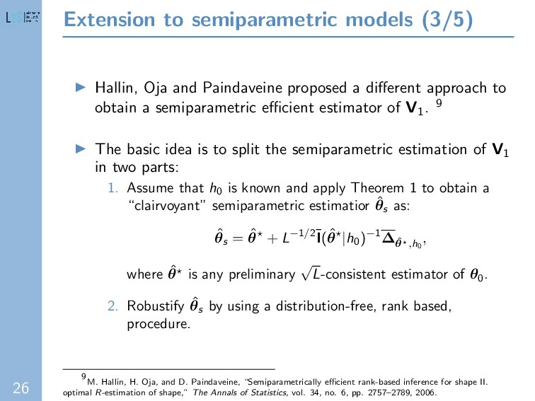 26 Extension to semiparametric models (3/5) Hal...