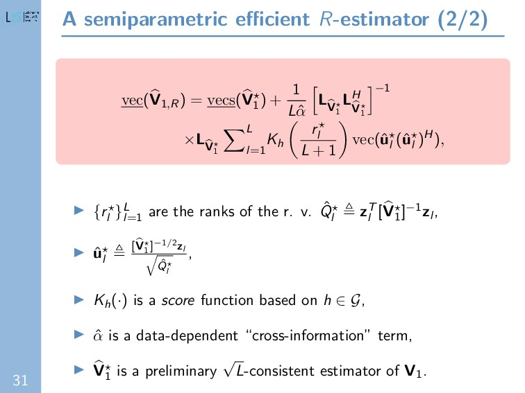 31 A semiparametric efficient R-estimator (2/2) v...