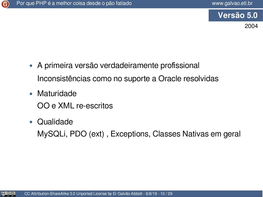 Versão 5.0 CC Attribution-ShareAlike 3.0 Unport...