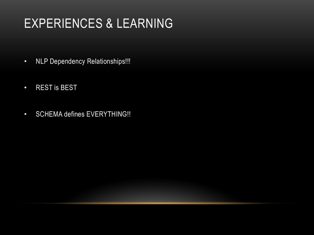 EXPERIENCES & LEARNING •  NLP Dependency Relati...