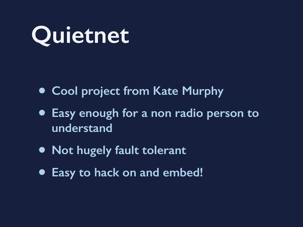 Quietnet • Cool project from Kate Murphy • Easy...