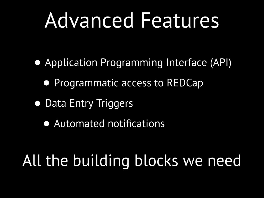 Advanced Features • Application Programming Int...