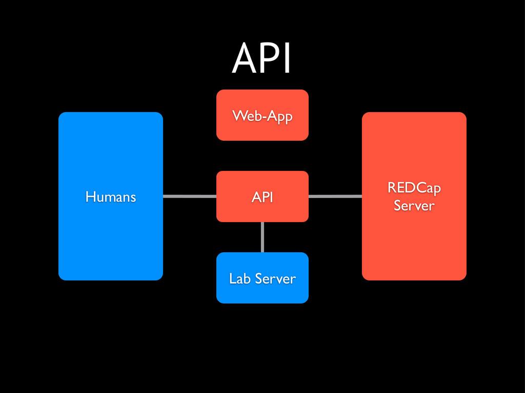 REDCap Server Web-App API Lab Server Humans API