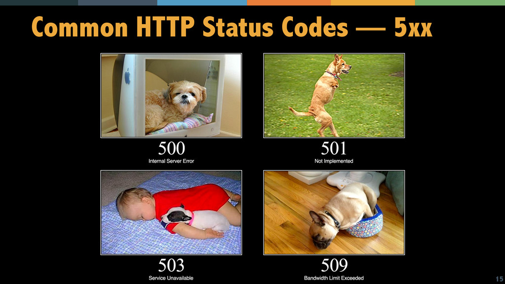 15 Common HTTP Status Codes — 5xx