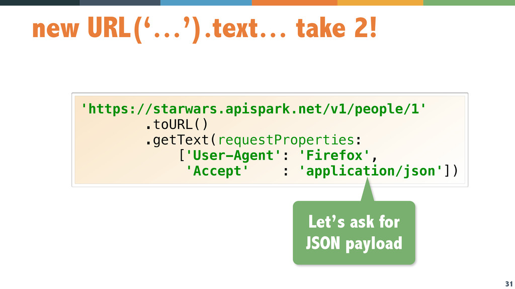 31 new URL('…').text… take 2! 'https://starwars...