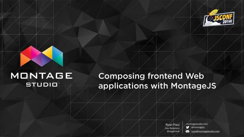 Composing frontend Web applications with Montag...